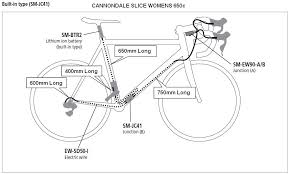 cannondale slice upgrade shimano di2 parts list