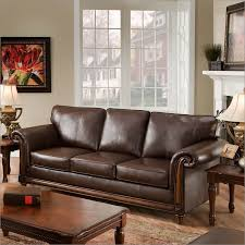 Simmons Upholstery 8001 San Diego Bonded Coffee Leather Queen Sleeper Sofa By Simmons