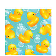 rubber duckie baby shower rubber ducky beverage napkins