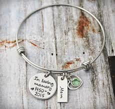 in loving memory charms wire bangle charm bracelet memorial bracelet in loving