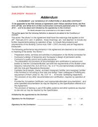 contract addendum template 18 images construction contract