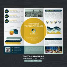 abstract corporate business design trifold brochure template