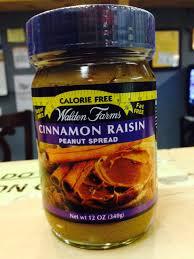 walden farms cinnamon raisin peanut spread u2013 lo carb u