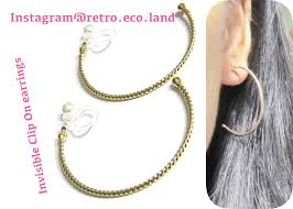 hoop clip on earrings clip earrings that are invisible painless comfortable to wear