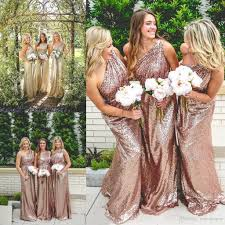 sequin bridesmaid dresses one shoulder sequin bridesmaid dresses 100 2017