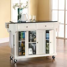 black granite top kitchen island crosley furniture kf30004ewh solid black granite top kitchen cart
