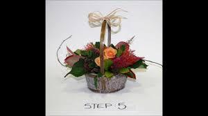 basket arrangements how to make an autumnal flower basket arrangement by blooming