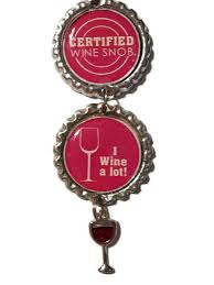 certified wine snob ornament wine gift ornament i