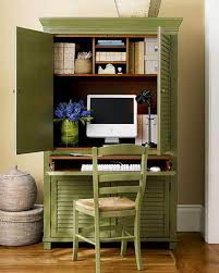 Computer Hutch Desk With Doors Furniture Green Small Computer Desk Ideas With Doors And Spaces