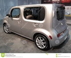 silver nissan car silver nissan cube editorial stock photo image 12836738