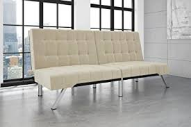 amazon com dhp emily futon sofa bed modern convertible couch
