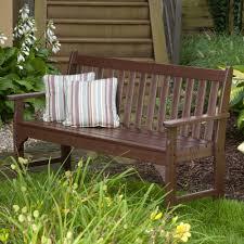 Lifestyle Garden Furniture Polywood Vineyard 48 Inch Garden Bench Gnb48