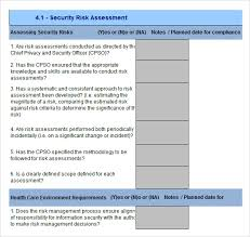 security risk assessment 9 download free documents in pdf word