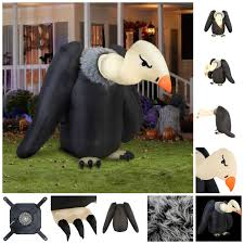 Halloween Inflatables Haunted House by Inflatable Vulture Halloween Animated Airblown Decor Haunted House