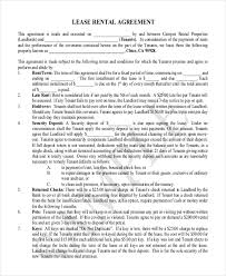 booth rental agreement template lease contract template lease