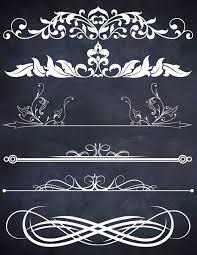 halloween scrolls background 15 chalk design clipart mix frames scroll divider instant