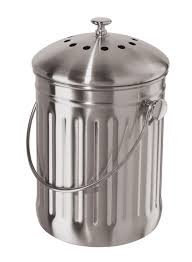 amazon com oggi stainless steel counter composter with charcoal