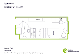 bronze studio hoxton london iq student accommodation