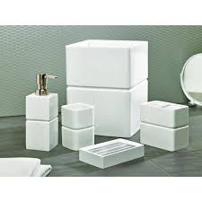 solid lacquer white bath accessory collection free shipping on