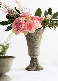 Tin Flower Vases Metal Vases Metal Wire Frames Wedding Centerpiece Vases Afloral