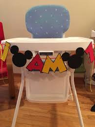 Mickey Mouse Table And Chairs by Mickey Mouse I Am 1 High Chair Banner I Am 2 High Chair Banner