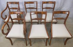 Yew Dining Room Furniture Of Six Regency Style Yew Dining Chairs Sold