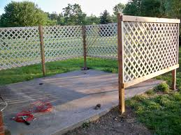 Cheap Fences For Backyard Diy Patio Lattice Fence Add Climbing Morning Glorys For Extra