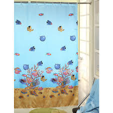 Animal Shower Curtain Pastoral Animal Baby Blue Print Awesome Shower Curtain