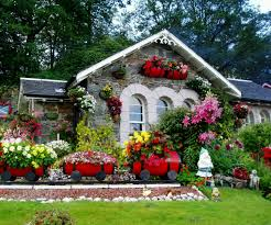 pretty flower garden ideas alices with great beautiful house