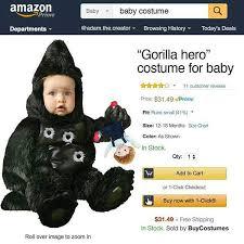 Gorilla Halloween Costumes Baby
