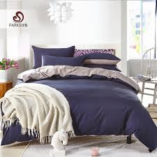 Pinched Duvet Cover 100 Cotton 3 Piece Solid Navy Blue Pinch Pleat Duvet Cover Set