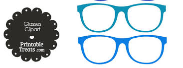 glasses clipart glasses clipart in shades of blue printable treats com
