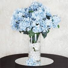 light blue flowers lt blue artificial hydrangea bush light blue efavormart