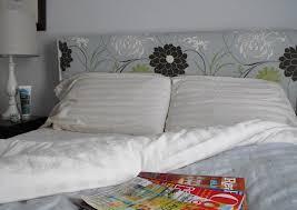 bedroom beautiful flower headboard pattern in grey color