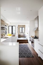 Area Rug Kitchen Slip Outdoor Rugs Kitchen Transitional With Black And White Area