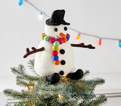 monogram tree topper merry and bright tree topper pottery barn kids