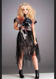 Halloween Prom Queen Costume Girls Dead Zombie Prom Queen Costume