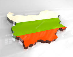 Map Of Bulgaria 3d Flag Map Of Bulgaria U2014 Stock Photo Fambros 3644239