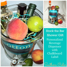 stock the bar shower southern color stock the bar shower gift ga cocktail recipe