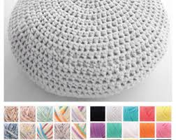 Crochet Ottoman Pattern Large Crochet Pouf Ottoman Floor Cushion Pdf Pattern Instant
