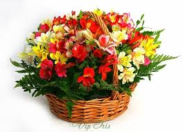 basket of flowers send baskets artistic basket of flowers all the usa