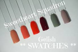 gelish sweetheart squadron collection swatches youtube