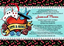 in love printable rockabilly baby shower invitation 12 00 via