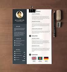 resume templates 2016 free resume design template 30 free beautiful resume templates to