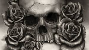 skull with roses drawing 25 best ideas about skull and