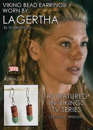 lagatha lothbrok hairstyle viking green aventurine earrings featured in history channel s