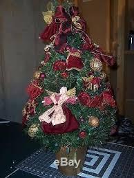 waterford heritage tree burgundy velvet ornaments 31