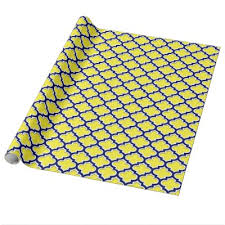 quatrefoil wrapping paper yellow quatrefoil wrapping paper zazzle