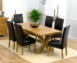 Solid Oak Dining Table And 6 Chairs Oak Dining Table Extending Chair Cool Extendable Dining Table And