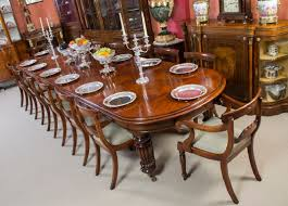 Victorian Dining Room Furniture by Vintage Victorian Mahogany Dining Table With 14 Chairs For Sale At